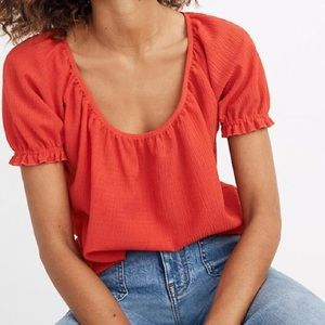 NWOT Madewell Texture & Thread Peasant Top size